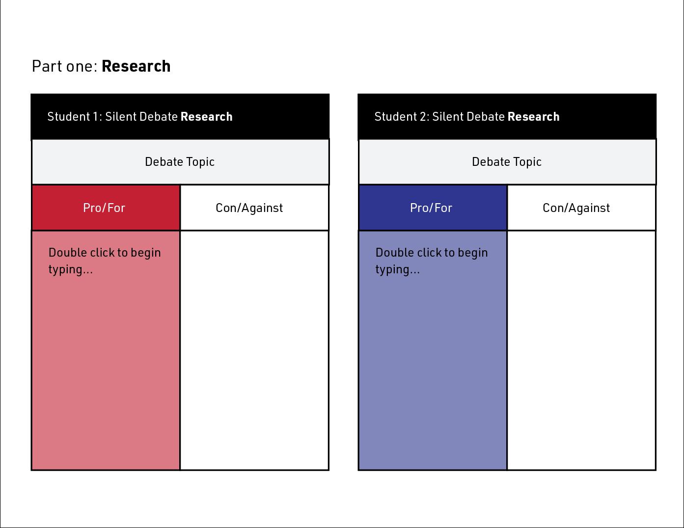 silent debate research
