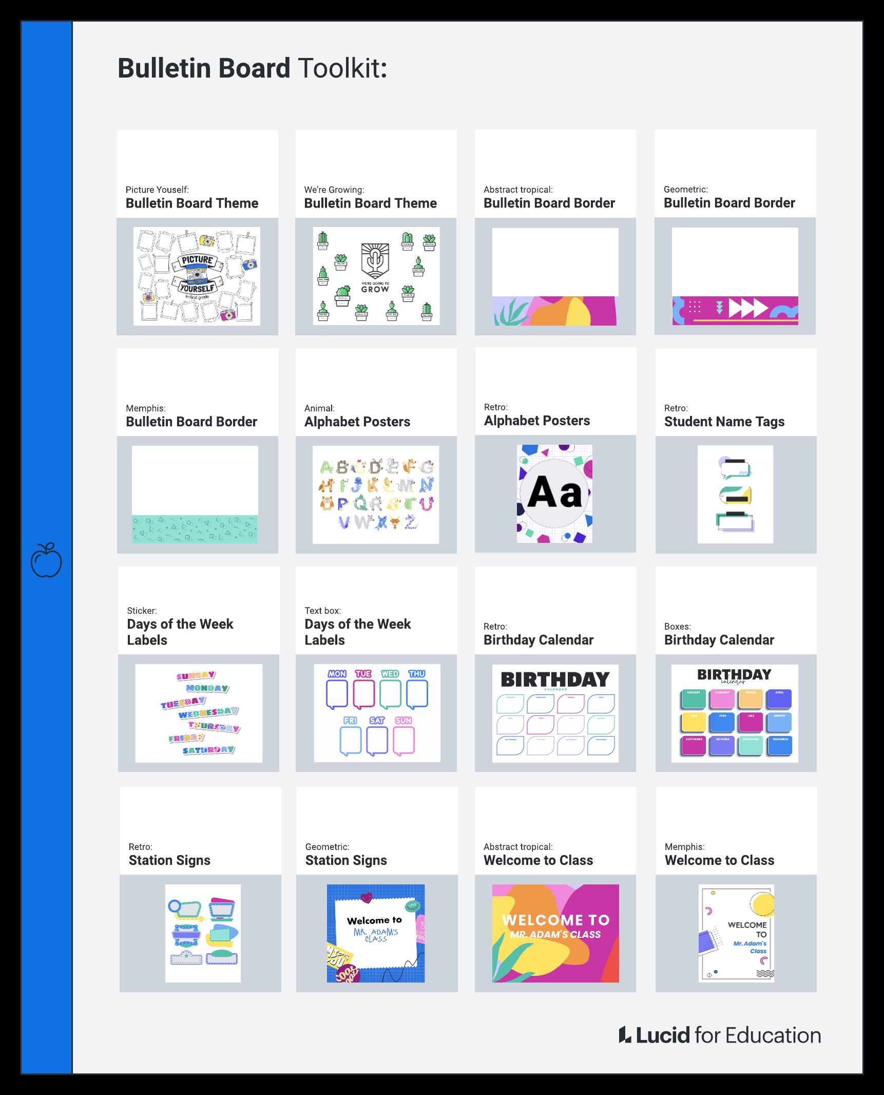 Bulletin board toolkit
