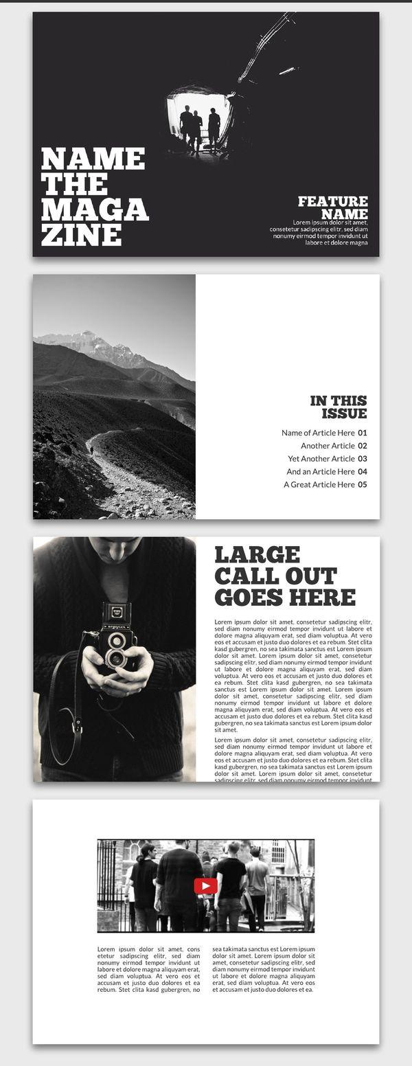 Introspective Digital Magazine Inspiration
