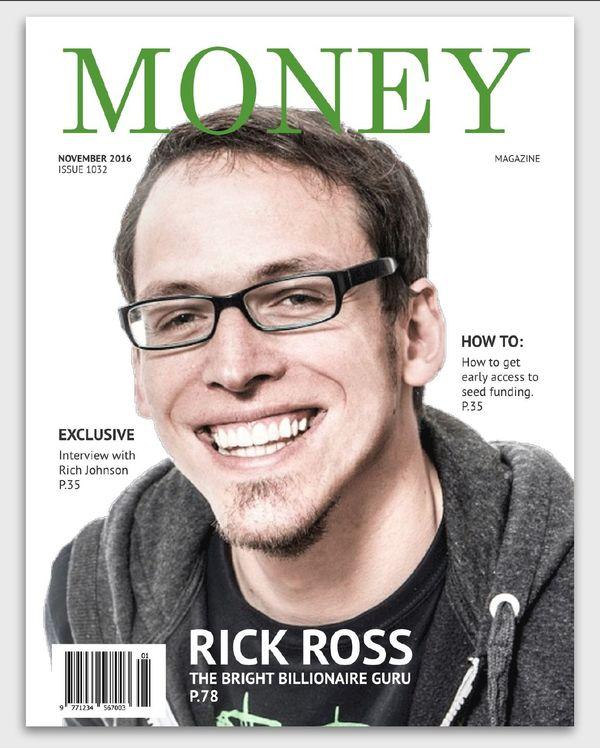 Money Fake Magazine Cover Inspiration