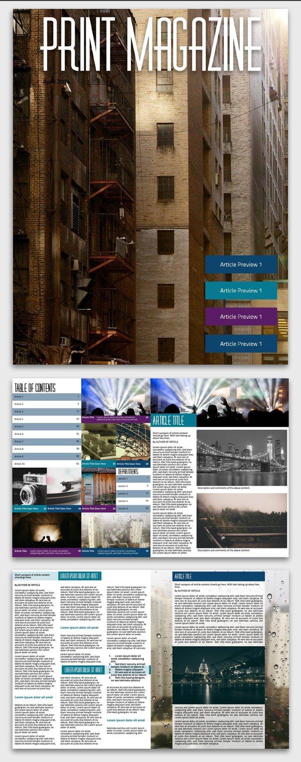 Urban Print Magazine Inspiration