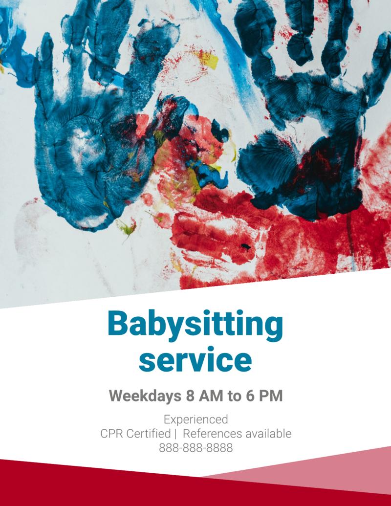 Babysitting Service Flyer Template