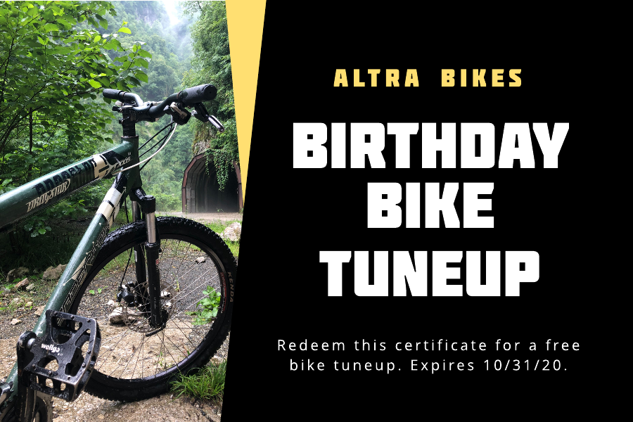 Bike birthday gift certificate template