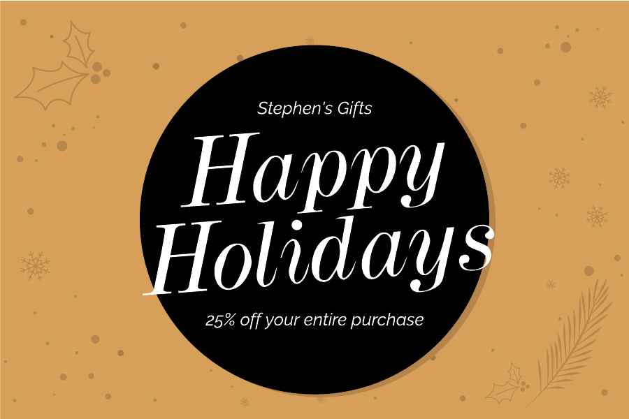 Black and gold Christmas gift certificate template