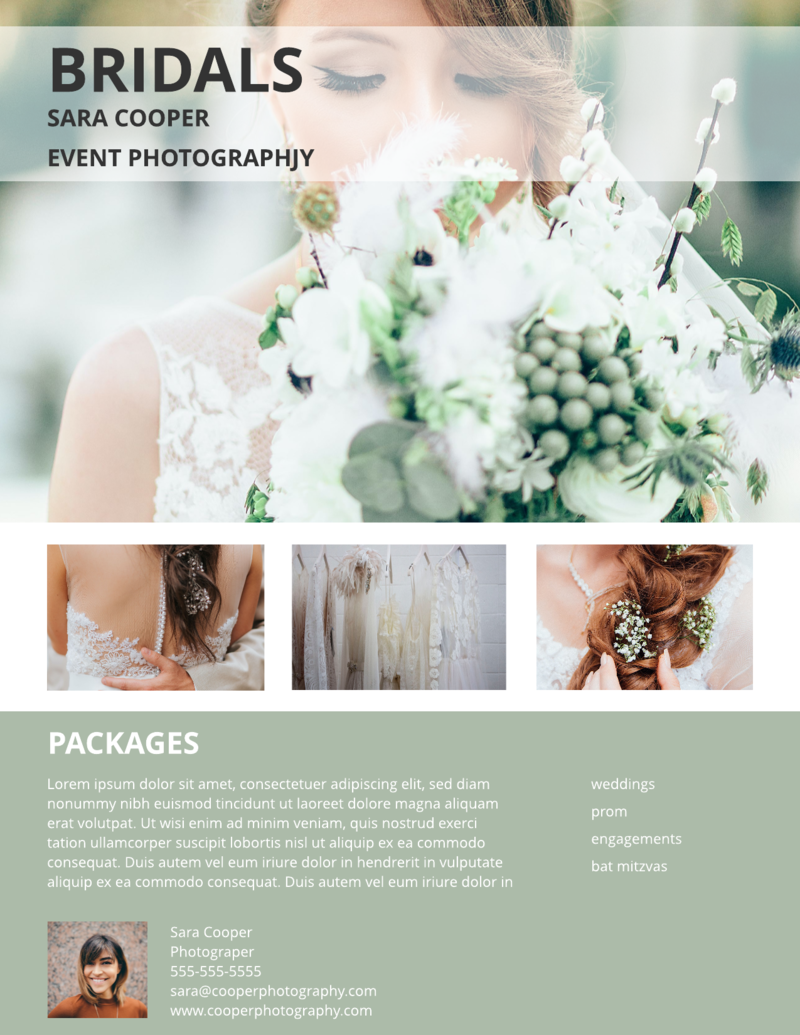 Bridals photography flyer template