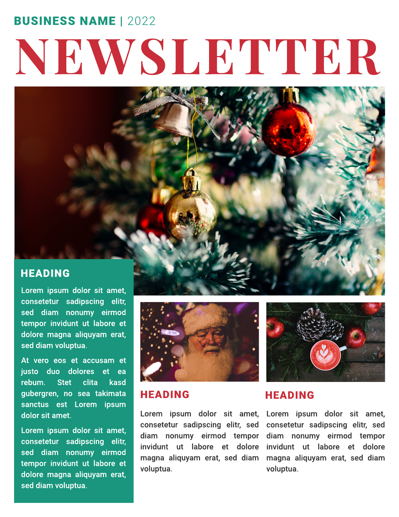 Business Christmas newsletter template