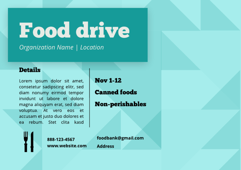 Food drive flyer template