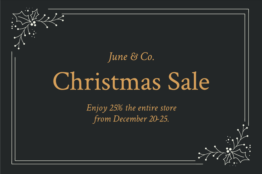 Gold Christmas gift certificate template