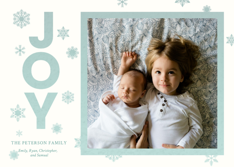 Joy Happy Holiday's Card Template