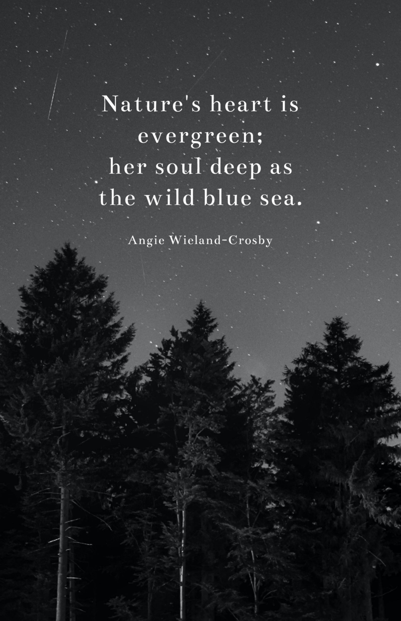 Nature quote poster template