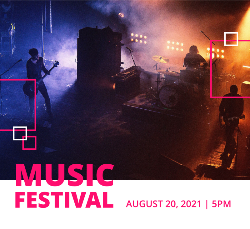Neon music festival event program template