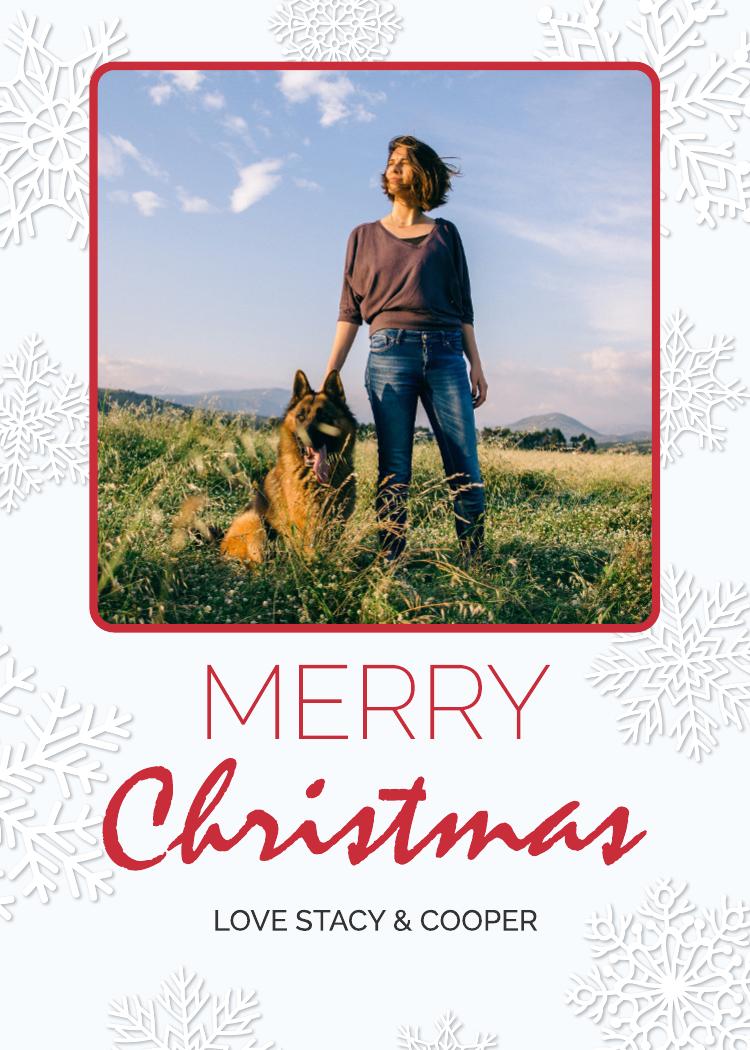 Snowflake Christmas Card (5x7)