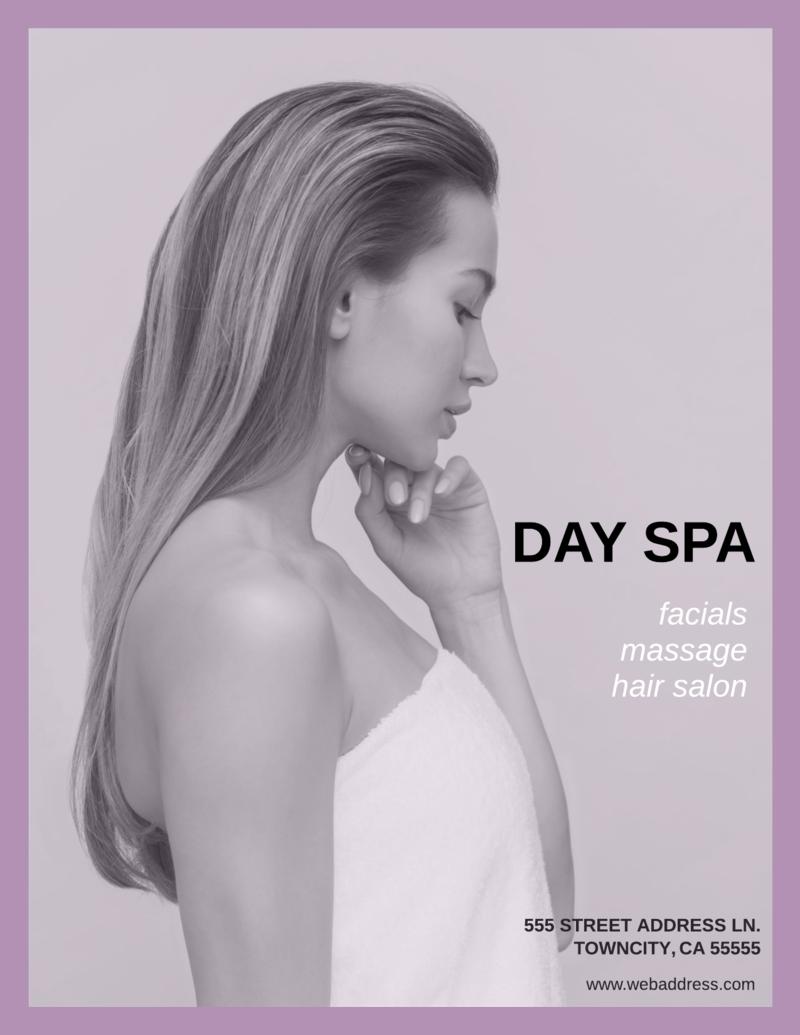 Spa & hair salon flyer template