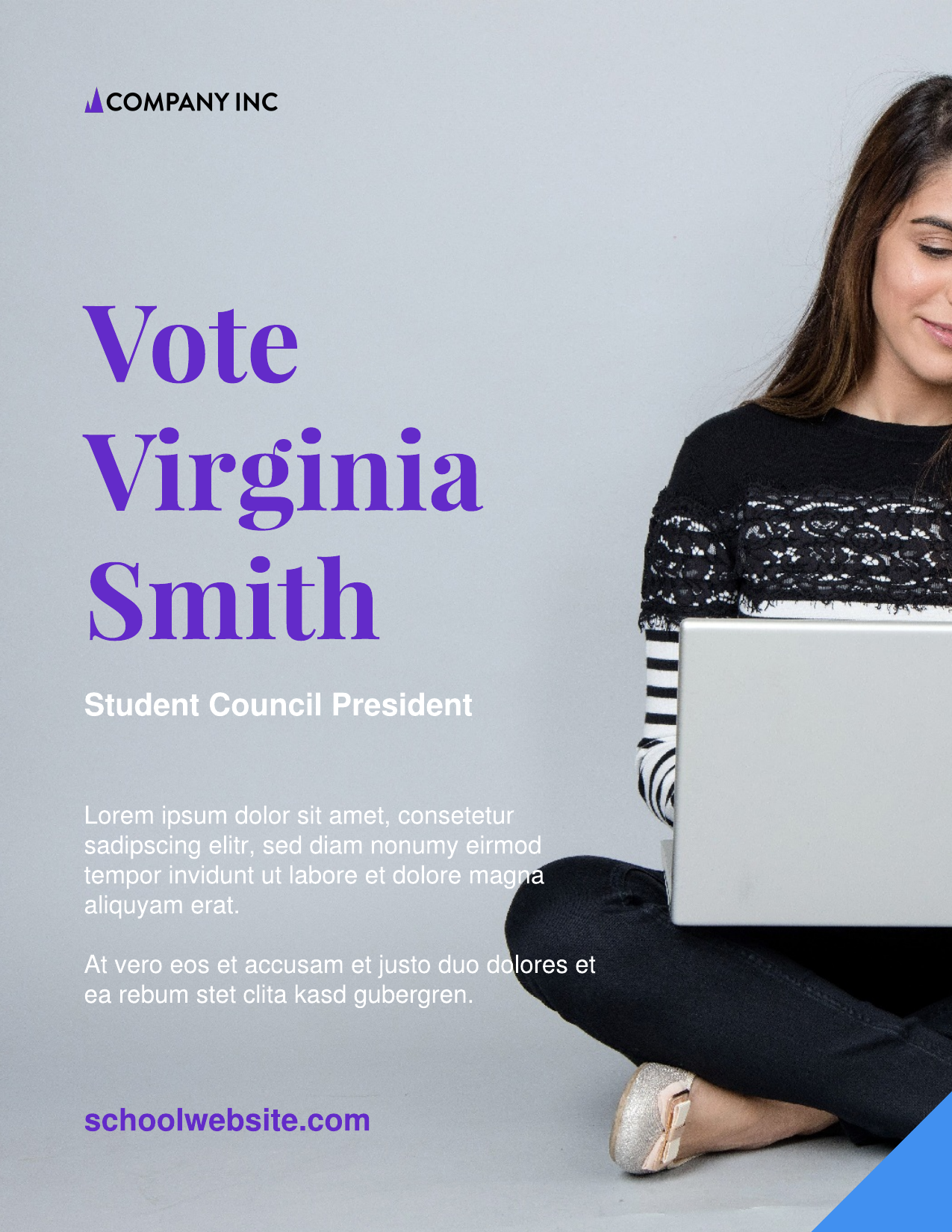 Student council campaign poster template