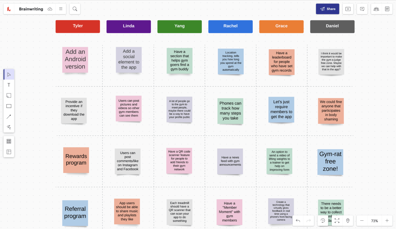 Brainstorm template