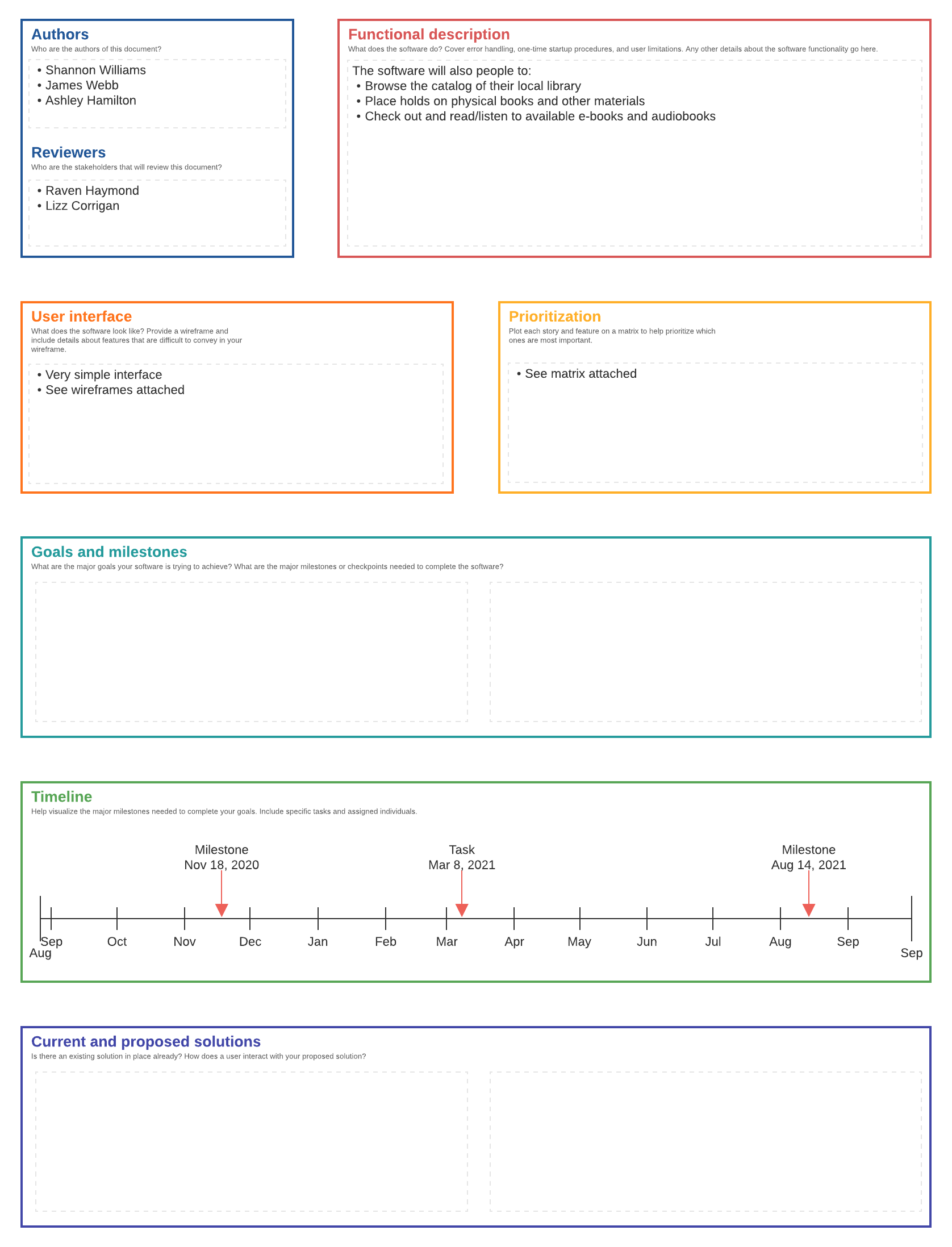 software design document example