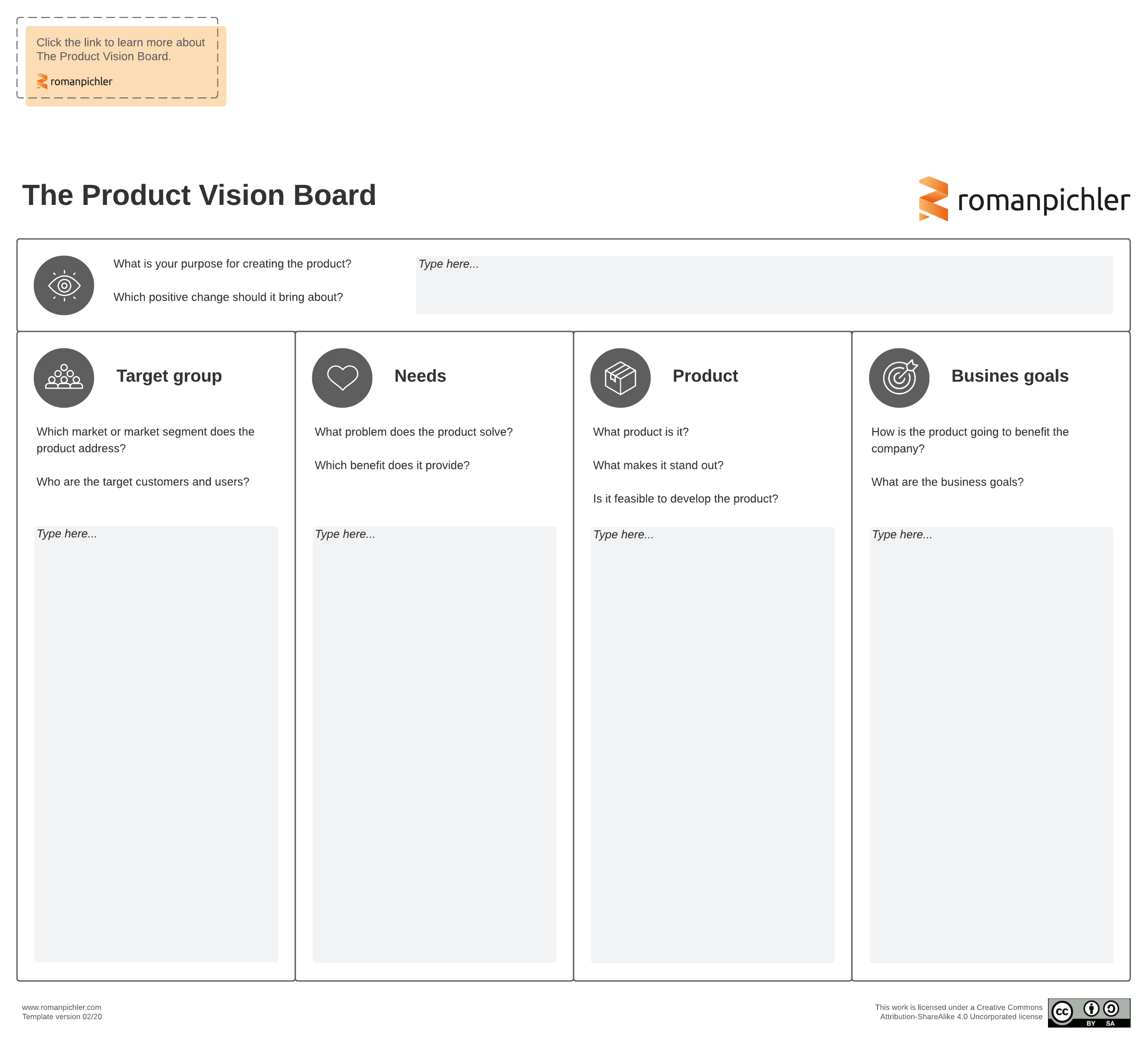 agile product management template