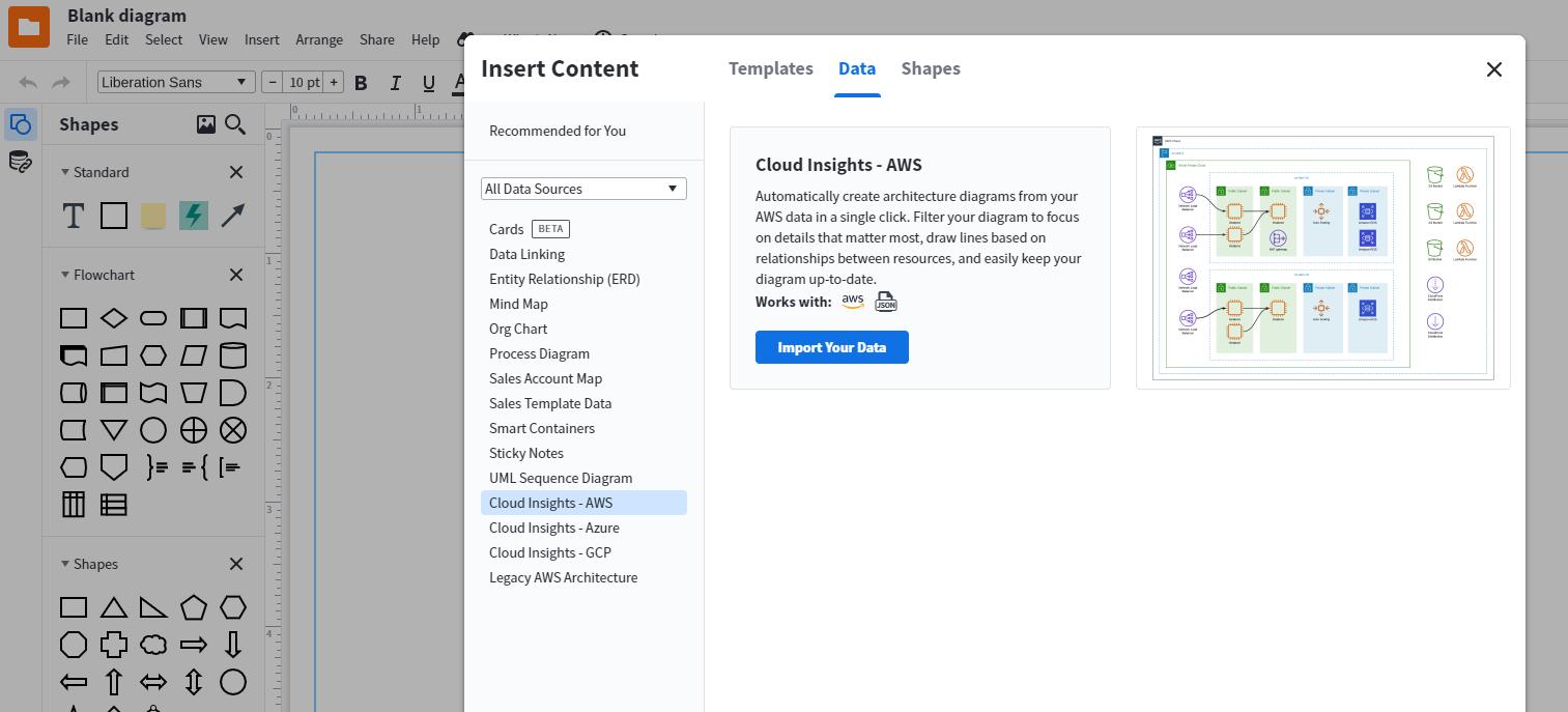 import cloud data