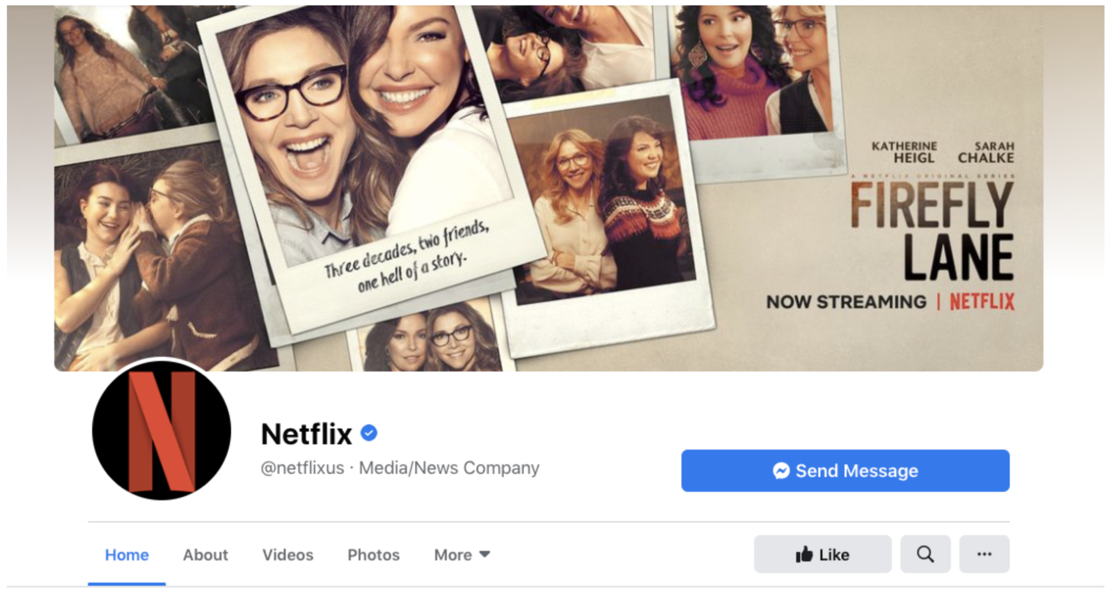Netflix Facebook Cover Image Example
