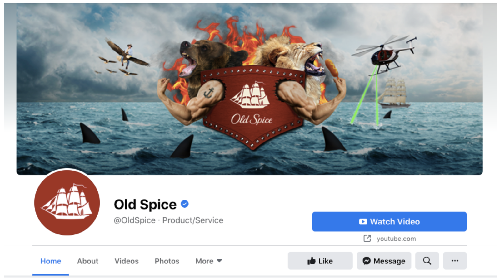 Old Spice Facebook Cover Image Example