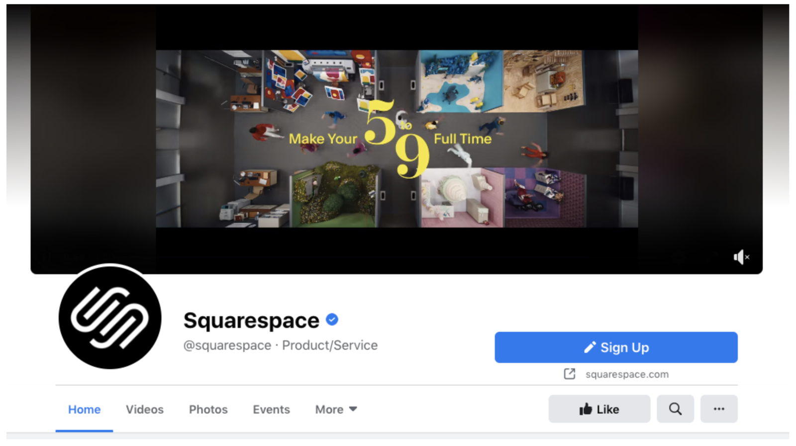 Squarespace Facebook Cover Image Example