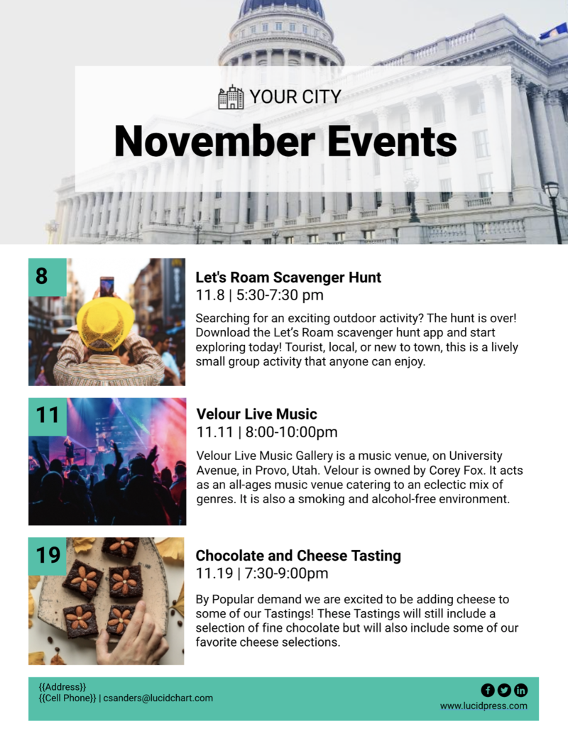 City events newsletter