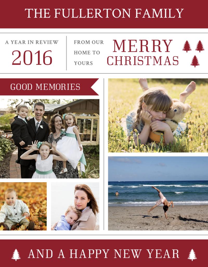 photo Christmas newsletter