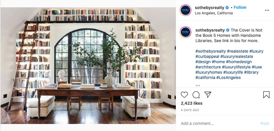 Sotheby's Instagram screenshot