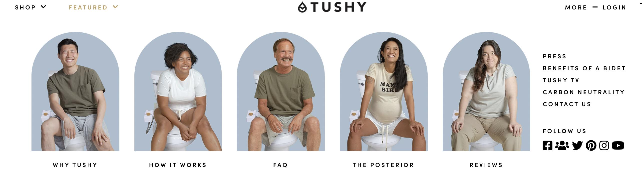 Image of five Tushy customers