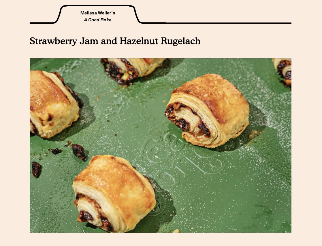 Image of cookie recipe on Great Jones website