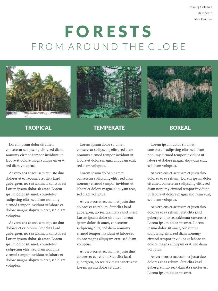 Forests research poster template