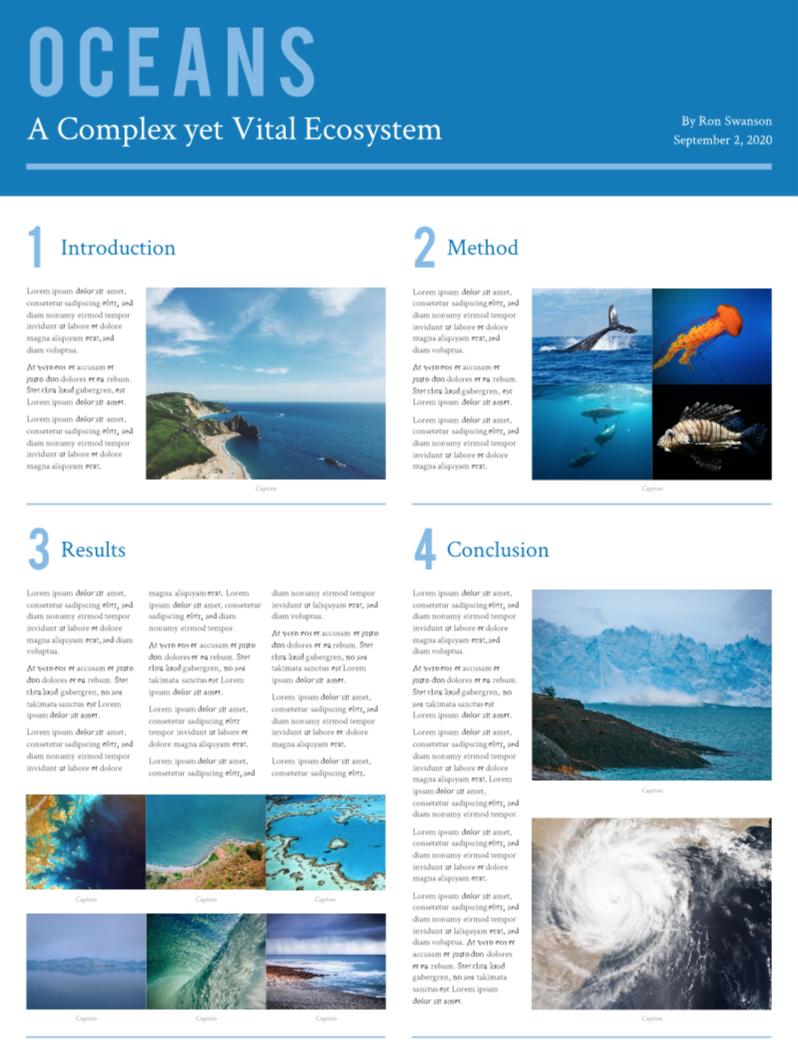 Ecosystem scientific poster template