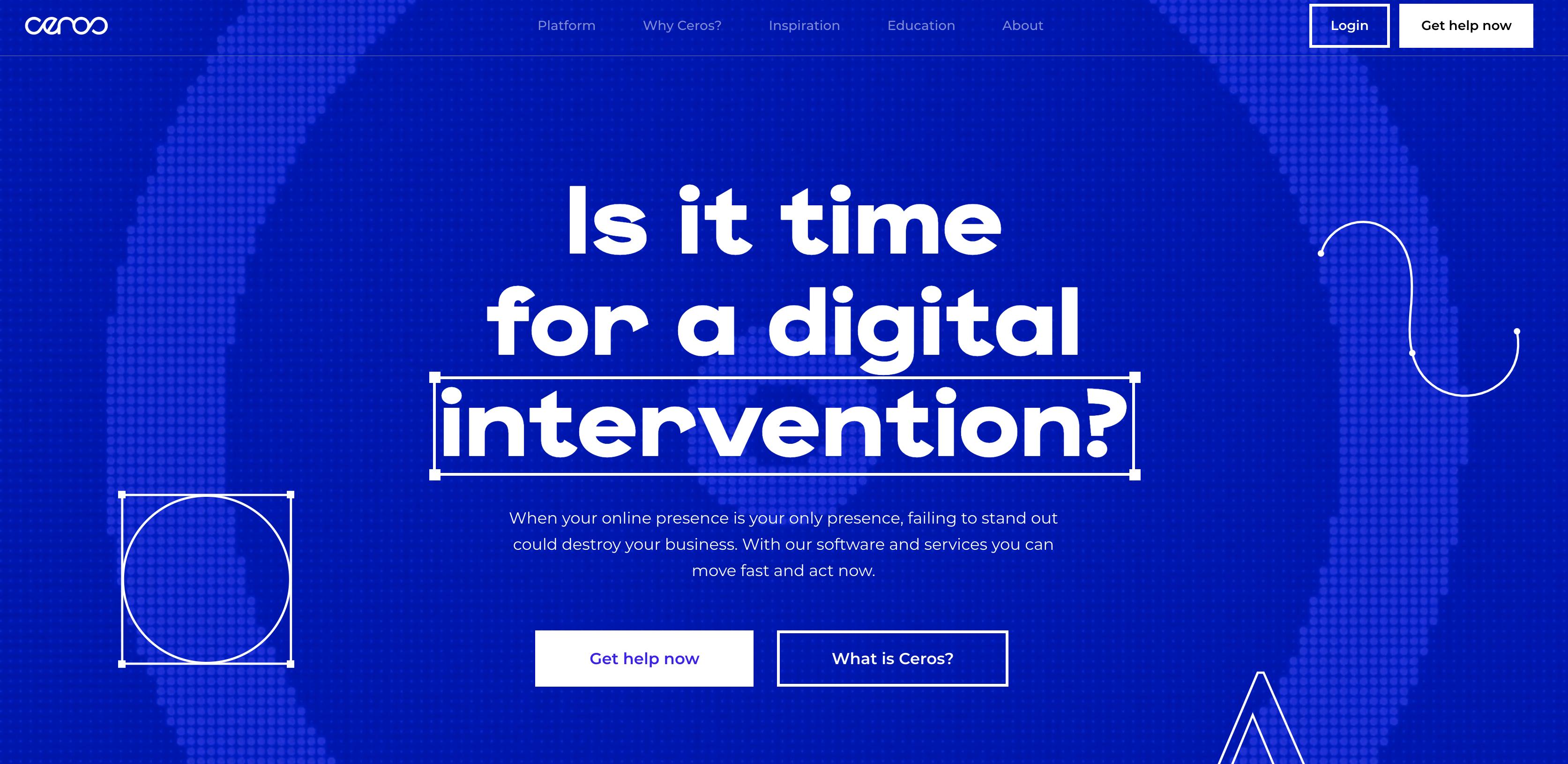 Ceros homepage screenshot