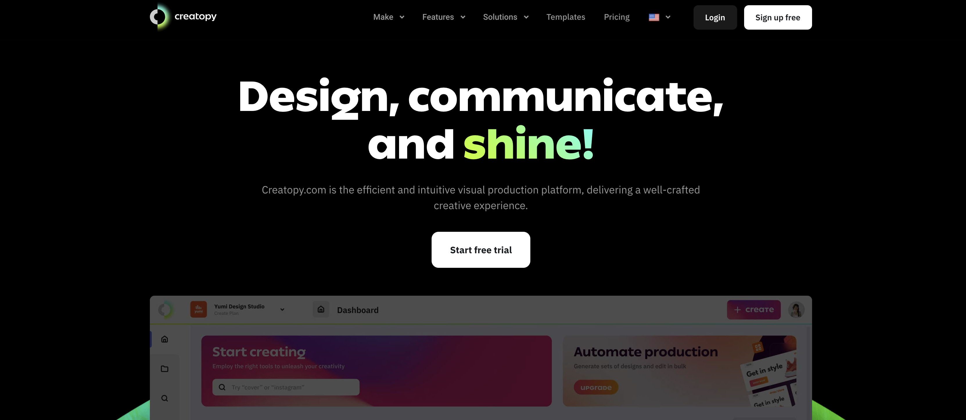 Creatopy homepage screenshot