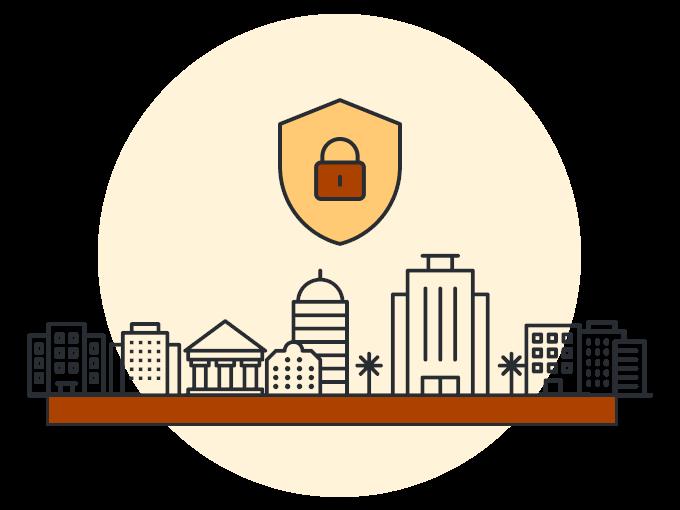 Наглядная иллюстрация надежной защиты всех доменов