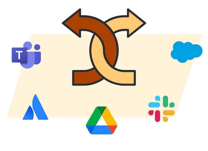 Illustration showing tight integration with other top software and tools