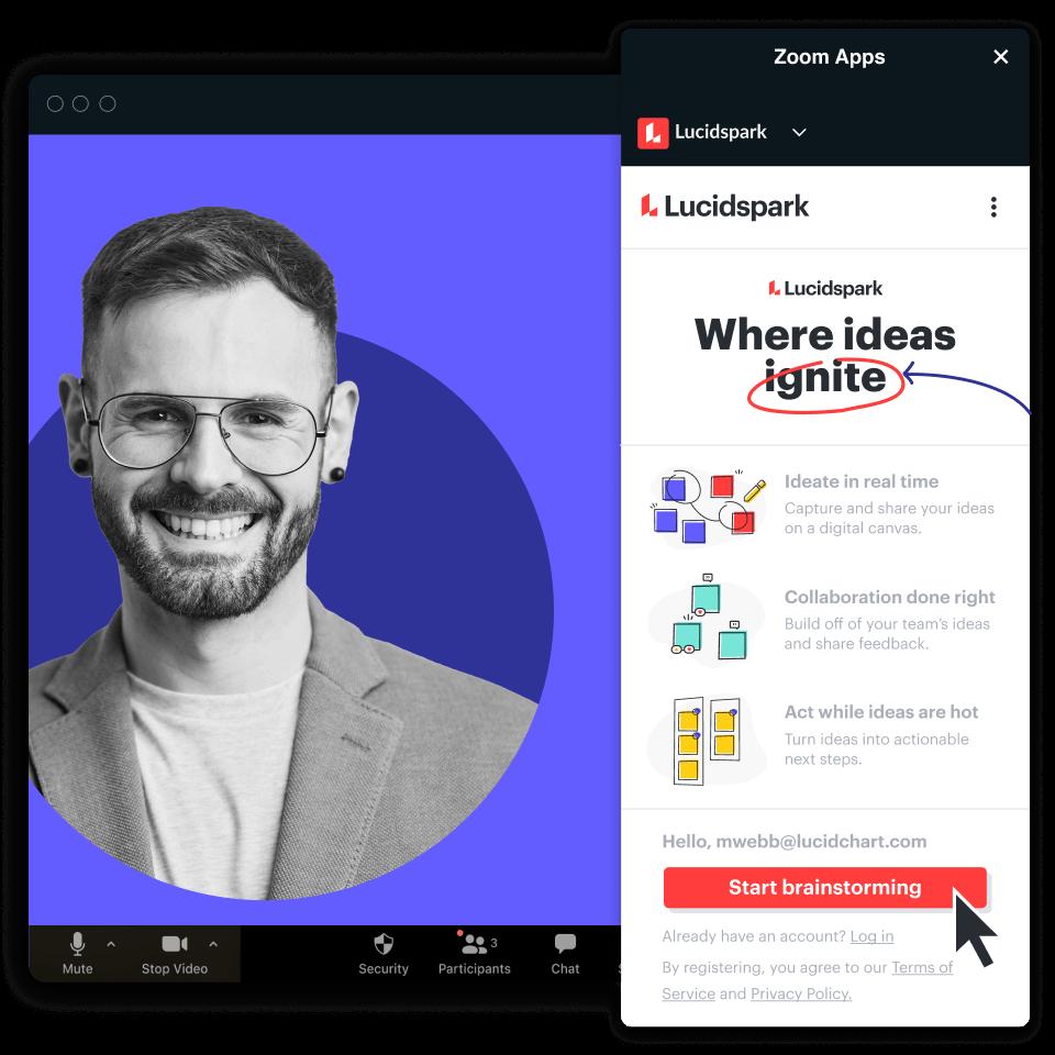 Brainstorming con Zoom e Lucidspark