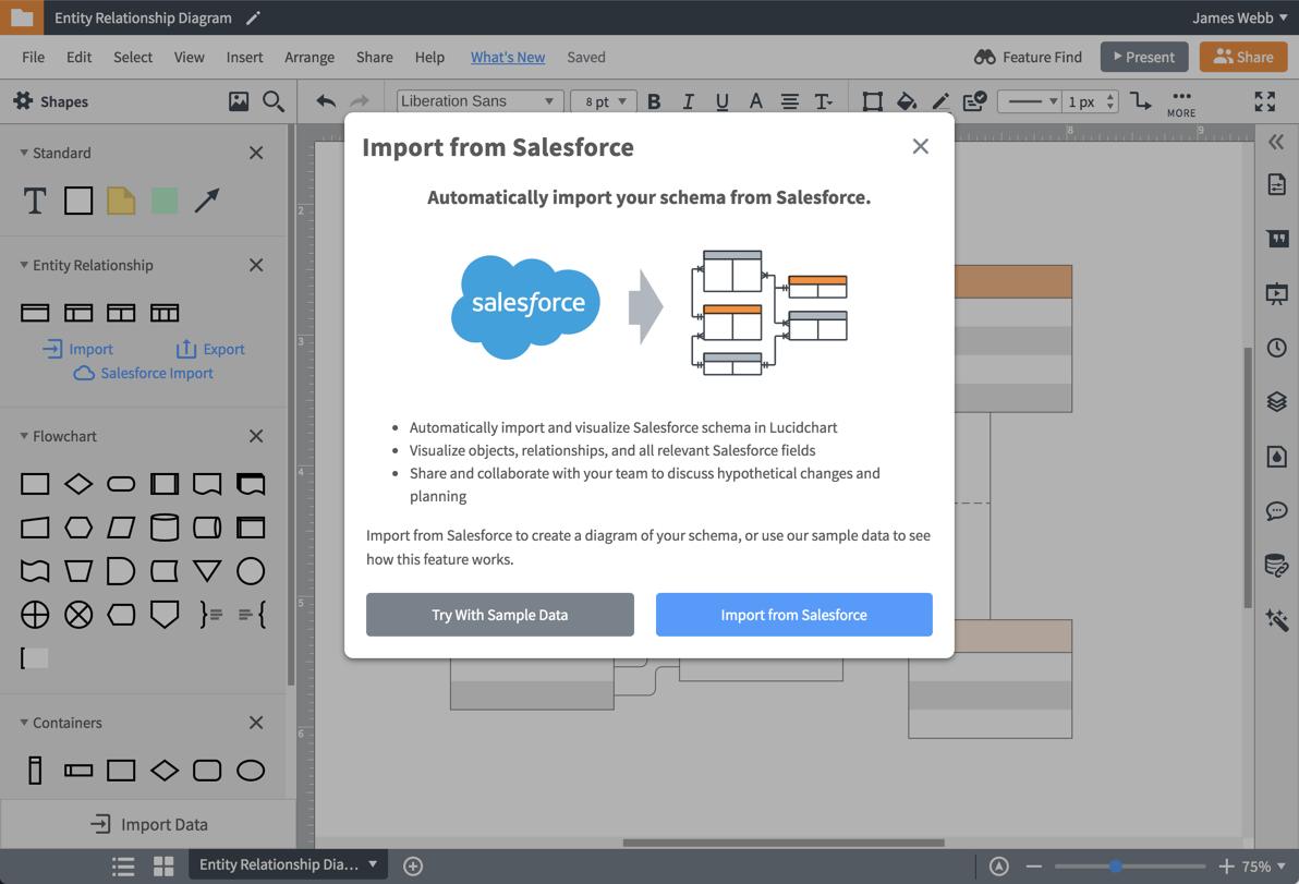 Importa il tuo schema Salesforce