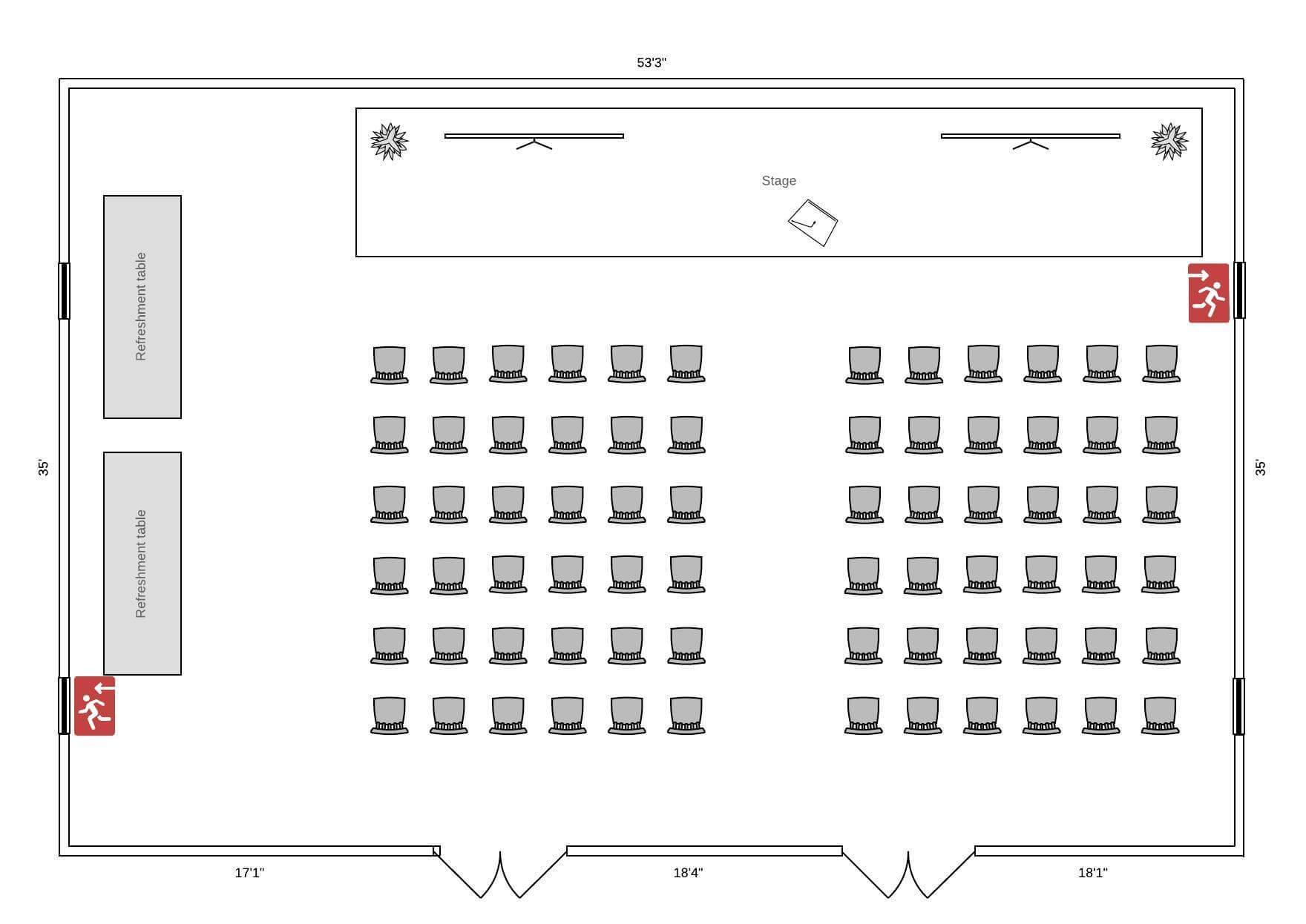 conference floor plan