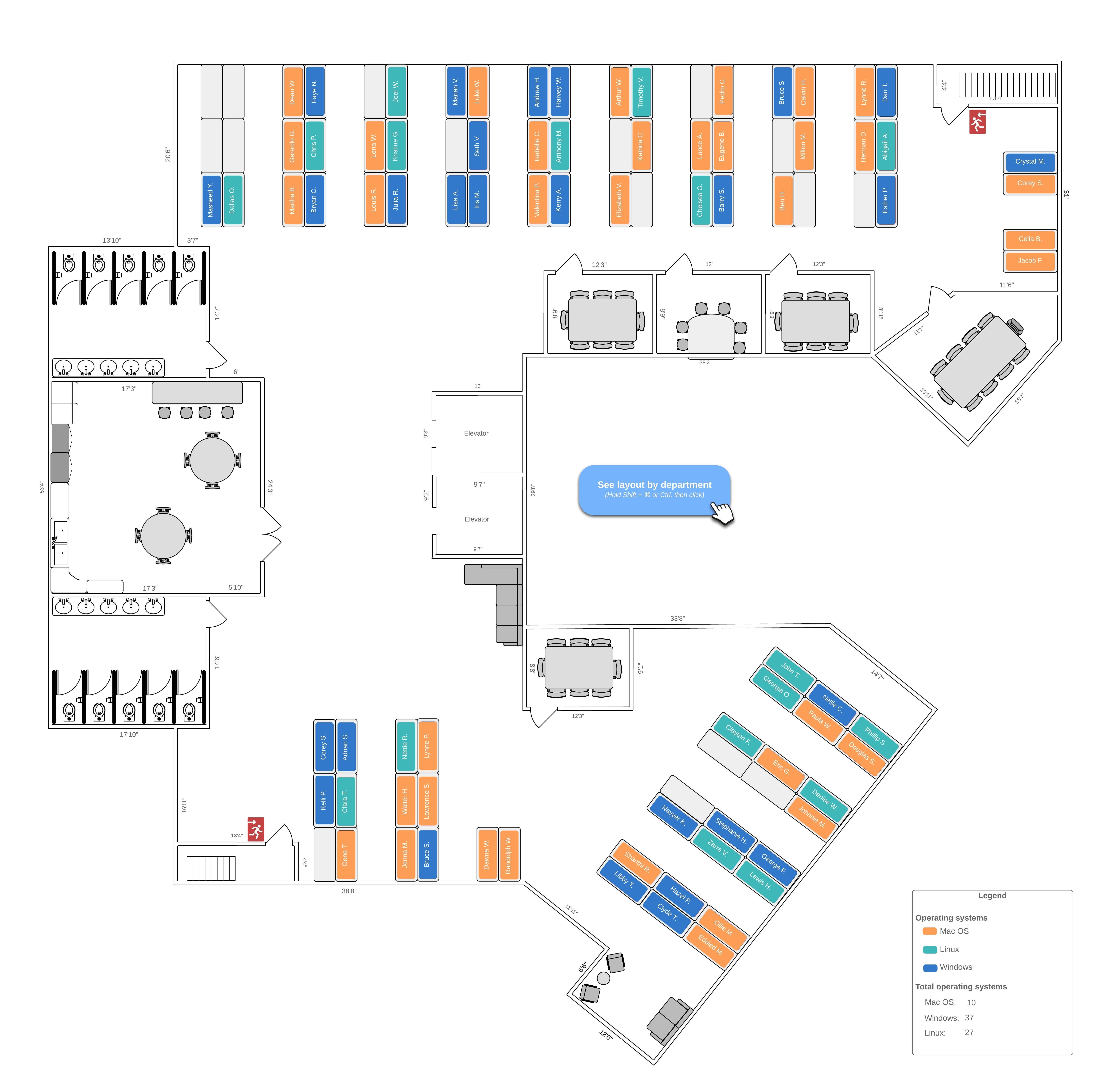 office floor plan template