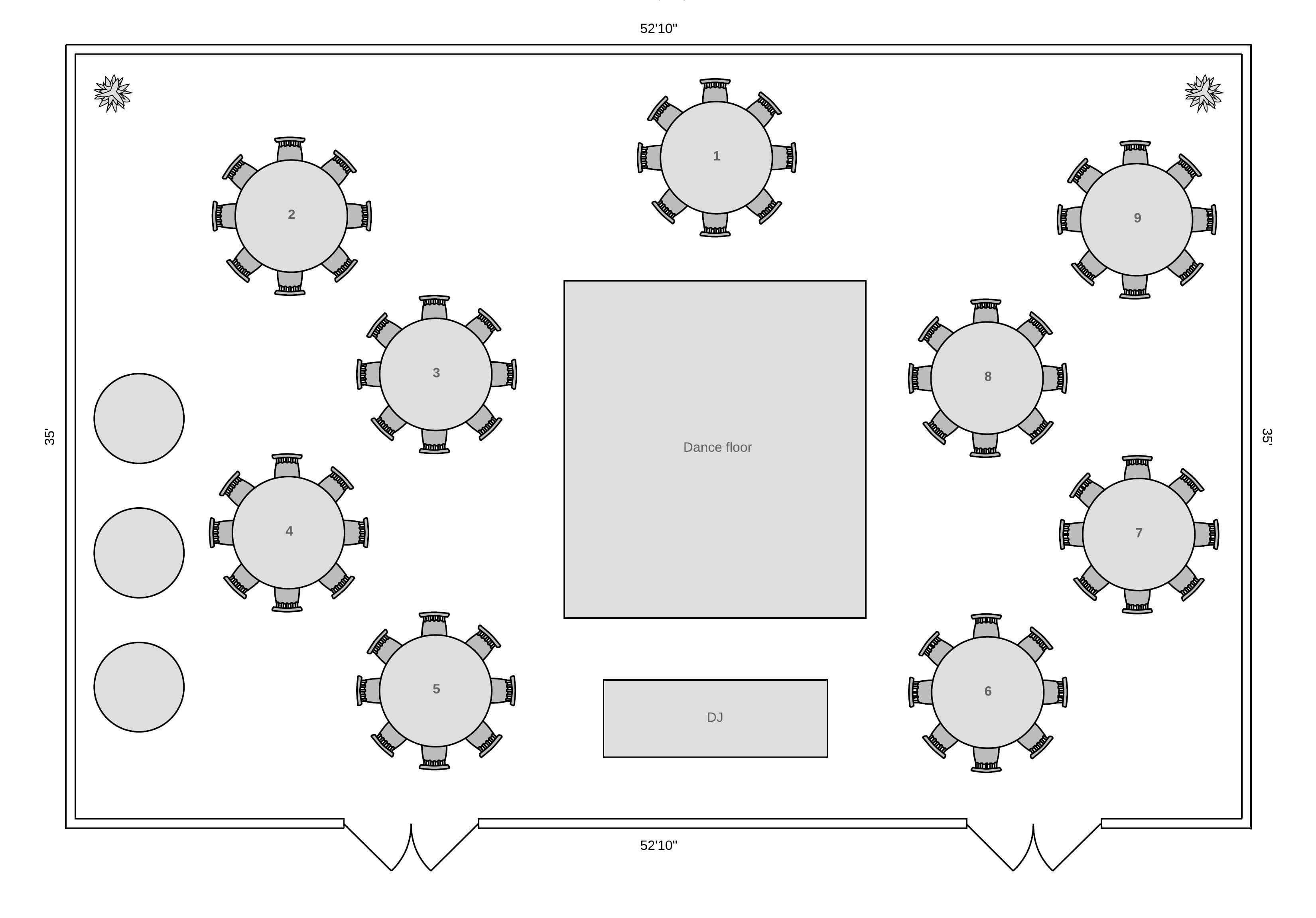 reception floor plan template