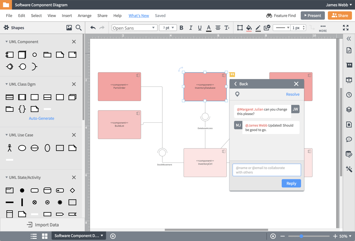 Совместная работа по созданию диаграмм UML