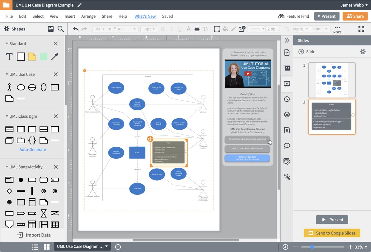 Condividi diagrammi UML online