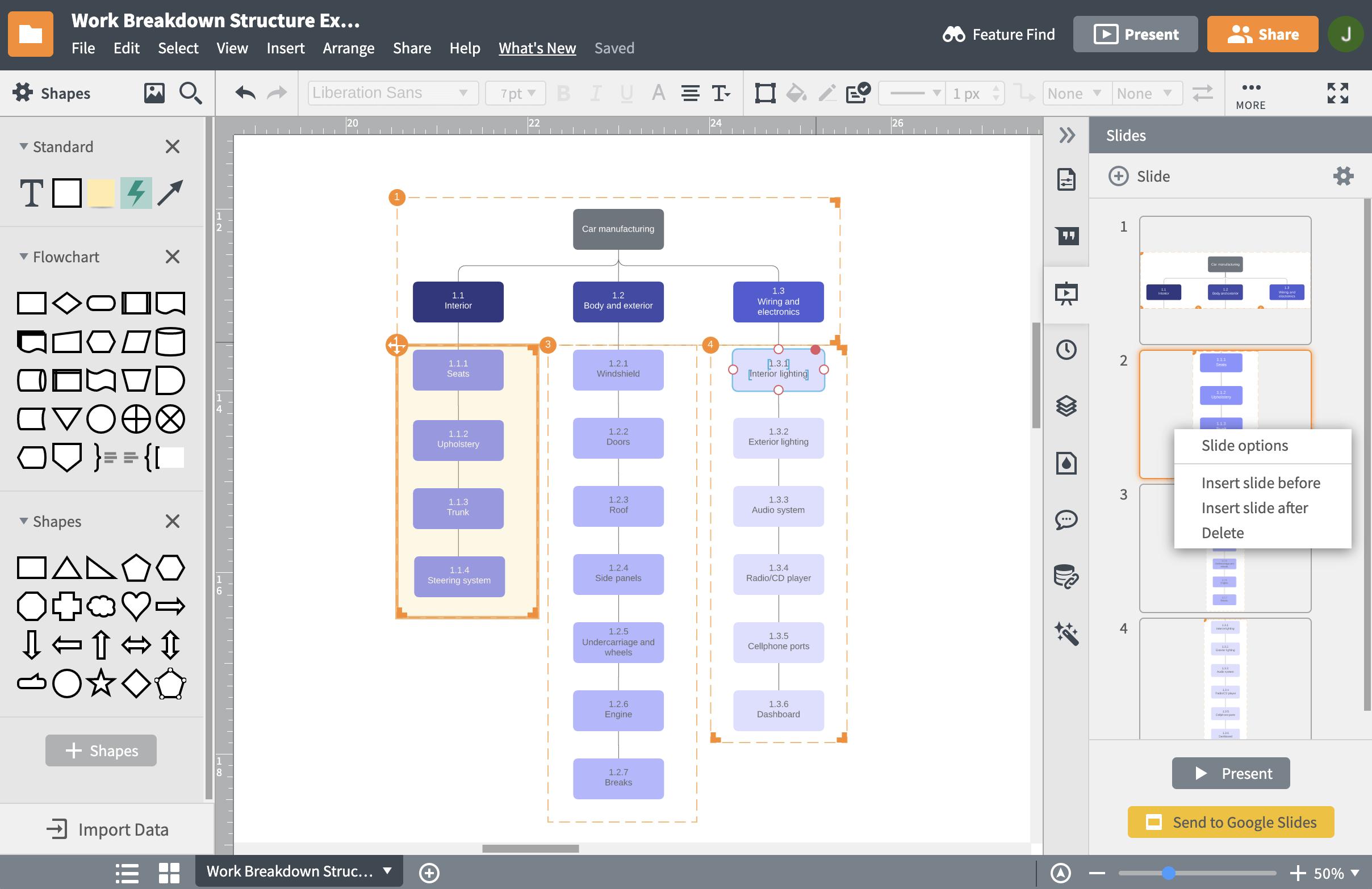 Lucidchart presentation mode
