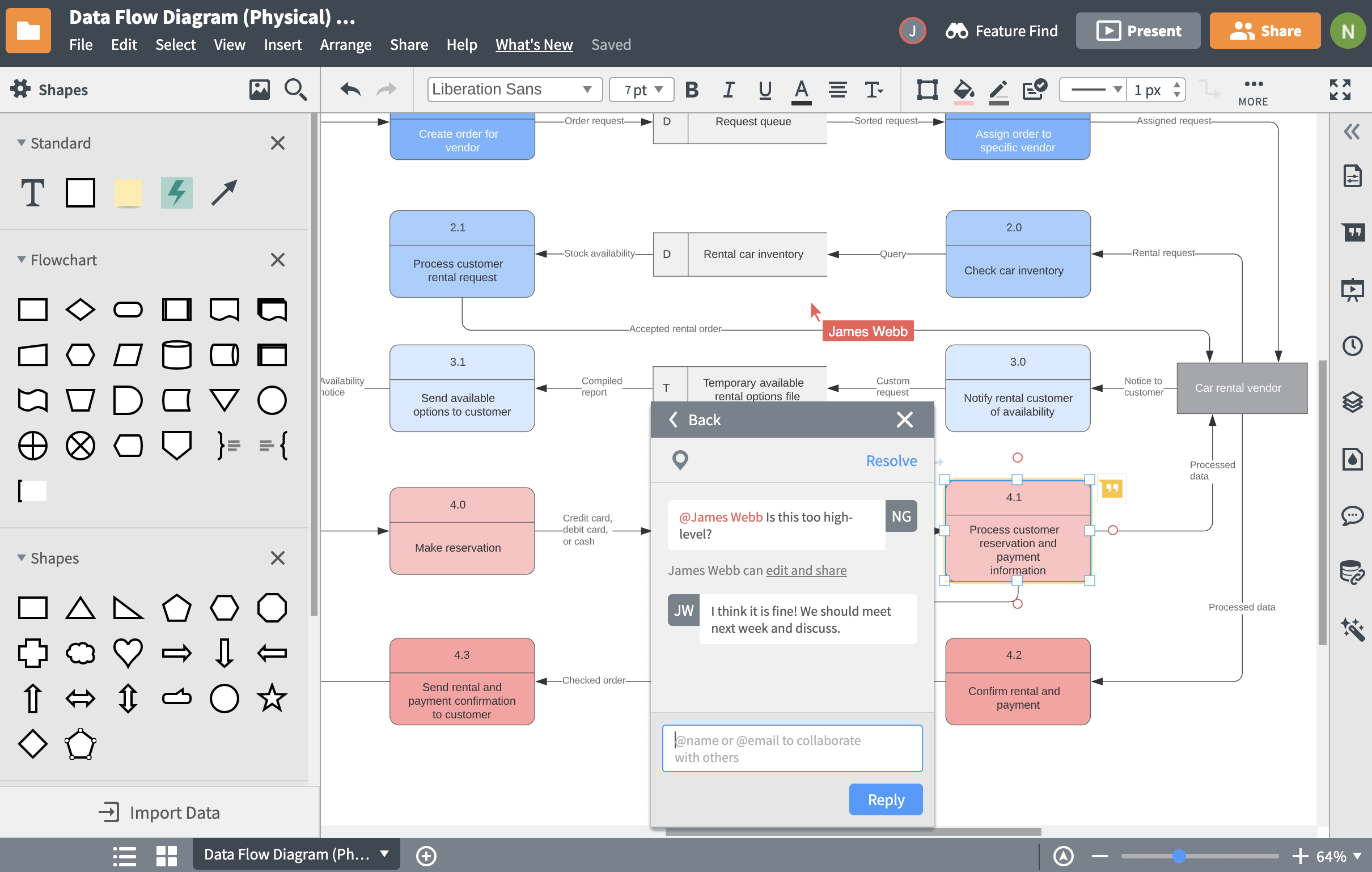 Lucidchart collaboration features