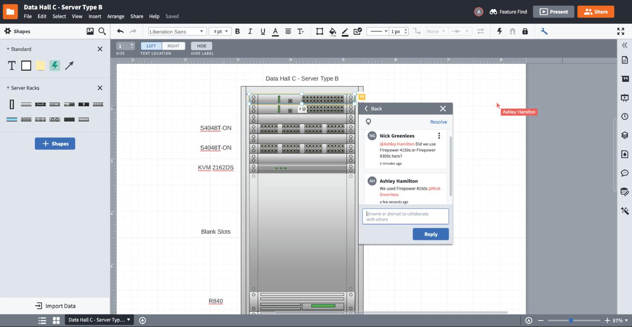 Software voor rackdiagrammen