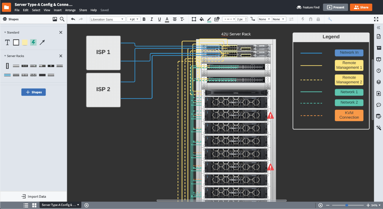 Rack Diagram Software Lucidchart