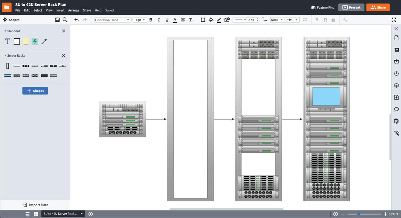 software voor serverrackdiagrammen