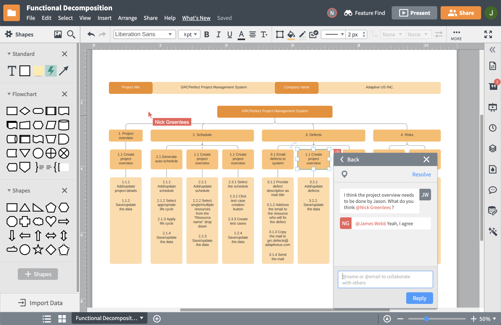 herramienta de estructura de análisis de trabajo