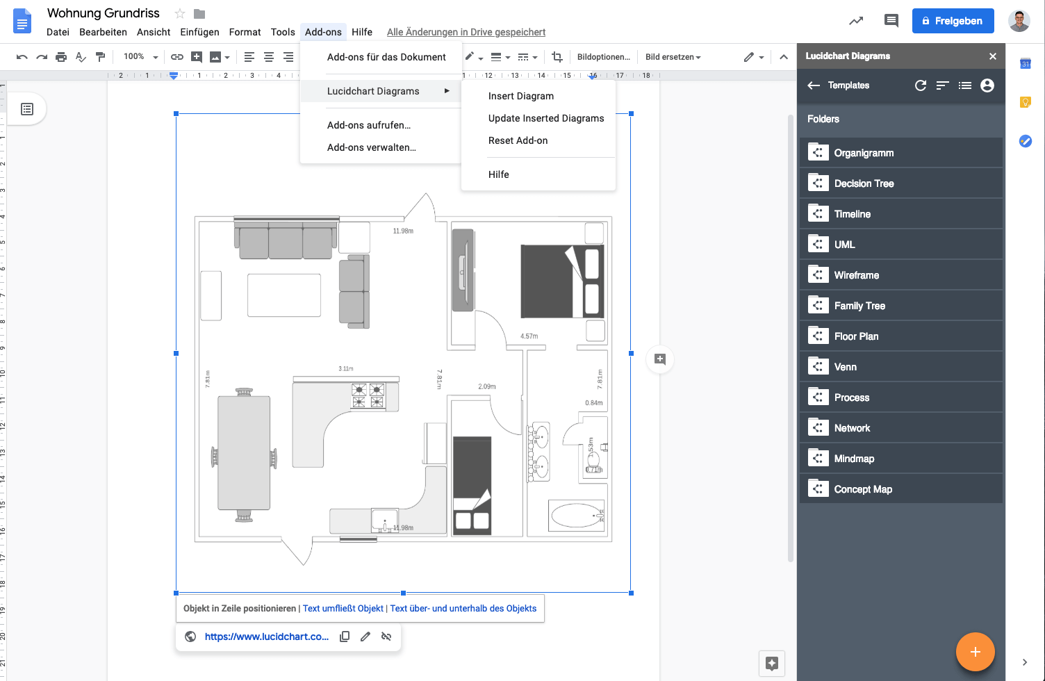 Diagramme in G Suite